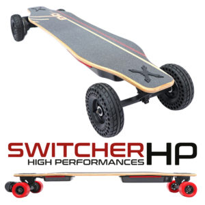 Skate-electrique-Convertible-tout-terrain-cross-longboard-switcher-HP-hautes-performances-SQ+title